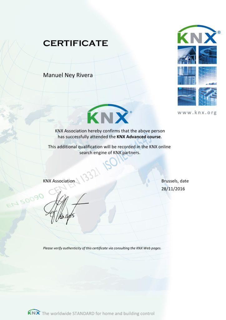 KNX Advanced Zertifikat - Ney Rivera